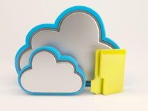 symbol för 3D Cloud Drive Arkivfoto