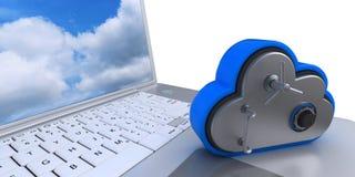 symbol för 3D Cloud Drive på datoren Arkivfoto