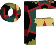 symbol för 3d Farenheit Arkivfoton