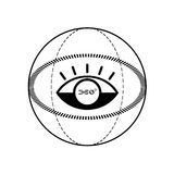 symbol för 360 degress stock illustrationer