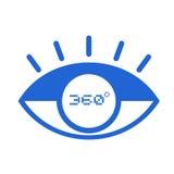 symbol för 360 degress vektor illustrationer