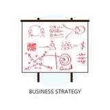 Symbol för design för lägenhet för begrepp för affärsstrategi vektor illustrationer