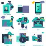 Symbol för design för lägenhet för dålig effekt för internet royaltyfri illustrationer