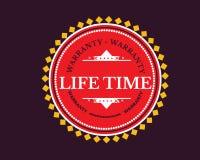 Symbol för design för livstidgaranti klassisk retro royaltyfri illustrationer