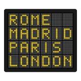 Symbol för destinationsbrädelägenhet som isoleras på vit Royaltyfri Bild