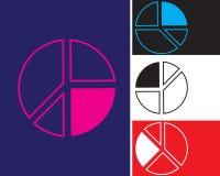 Symbol för diagram för paj för symbolsdiagramtabel Teckendesign vektor illustrationer