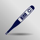 Symbol för Digital termometer Stock Illustrationer