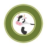 Symbol för djur lantgård för ko Royaltyfri Foto