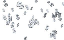 symbol för dollar 3d royaltyfri illustrationer