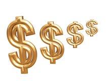 symbol för dollar 3d Arkivbild