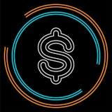 Symbol för dollartecken, valutatecken - pengarsymbol royaltyfri illustrationer