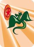 symbol för drakeflygstjärna Royaltyfri Fotografi