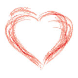 symbol för drawhandhjärta arkivbilder