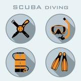 Symbol för dykapparatdykning Arkivfoton