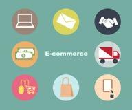 Symbol för e-kommersuppsättning Arkivbild