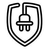 Symbol för Eco proppsköld, översiktsstil vektor illustrationer