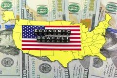 Symbol för ekonomiska problem för USA Fotografering för Bildbyråer