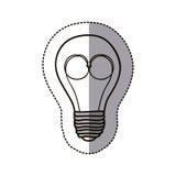 symbol för elkraft för konturkulahjärna vektor illustrationer
