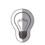 symbol för elkraft för konturkulahjärna royaltyfri illustrationer