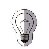 symbol för elkraft för konturkulahjärna stock illustrationer