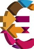 symbol för euro 3d royaltyfri illustrationer