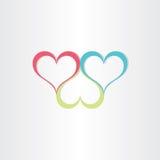 Symbol för färghjärtaförälskelse Fotografering för Bildbyråer