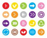Symbol för färgpilknapp Royaltyfri Fotografi
