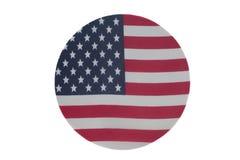 Symbol för Förenta staternaflaggarunda royaltyfri foto