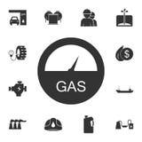 Symbol för förhållande för automatiskt bränsle Enkel beståndsdelillustration Design för symbol för förhållande för automatiskt br stock illustrationer
