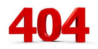 symbol för 404 fel royaltyfri illustrationer