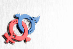 symbol för femininityförälskelsemasculinity Arkivfoton