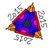 symbol för 2015 festligheter på vit bakgrund Arkivfoto