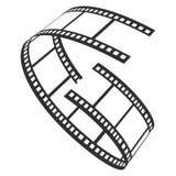 Symbol för filmrulle, television och produktionremsa royaltyfri illustrationer