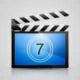 Symbol för filmspelare Arkivbild