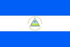 Symbol för flaggaNicaragua lägenhet stock illustrationer