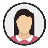 Symbol för flickalägenhetdesign Arkivbild