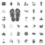 Symbol för Flipmisslyckande Spa och för rekreation fastställda symboler Uppsättning av 33 brunnsortsymboler Royaltyfria Foton