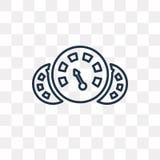 Symbol för flygpanelvektor som isoleras på genomskinlig bakgrund, lin royaltyfri illustrationer