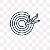 Symbol för flygplatsradarvektor som isoleras på genomskinlig bakgrund, li vektor illustrationer