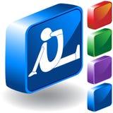 symbol för fot 3d Arkivfoto