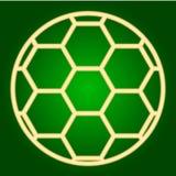 Symbol för fotbollboll gör linjer tunnare Arkivbilder