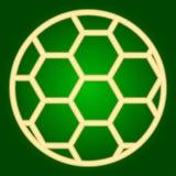 Symbol för fotbollboll gör linjer tunnare Royaltyfri Foto