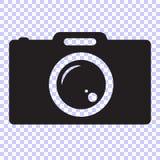 symbol för fotokameravektor stock illustrationer