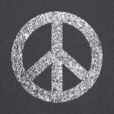 Symbol för fred för asfaltväg royaltyfri illustrationer
