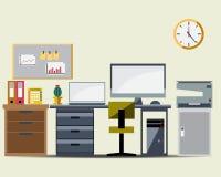 Symbol för funktionsduglig tabell för kontor royaltyfri illustrationer