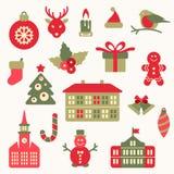 Symbol för fyra jul också vektor för coreldrawillustration royaltyfri illustrationer