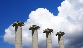 Symbol för fyra kolonner av de fyra Catalan stängerna Arkivbild