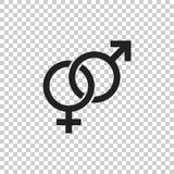Symbol för genusteckenvektor Män och woomenbegreppssymbol royaltyfri illustrationer