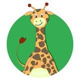 Symbol för girafftecknad filmlägenhet Fotografering för Bildbyråer
