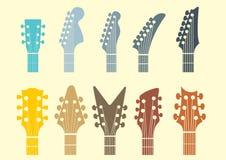 Symbol för gitarrhuvudmateriel Royaltyfria Foton